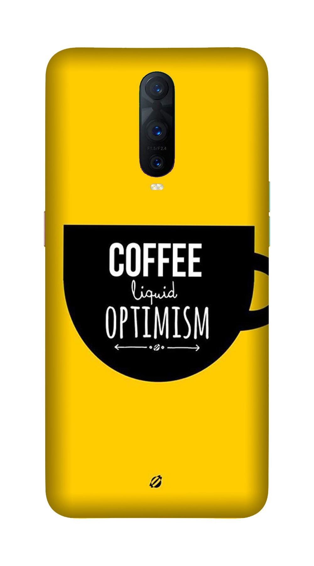 Coffee Optimism Mobile Back Case for OnePlus 7 Pro (Design - 353)