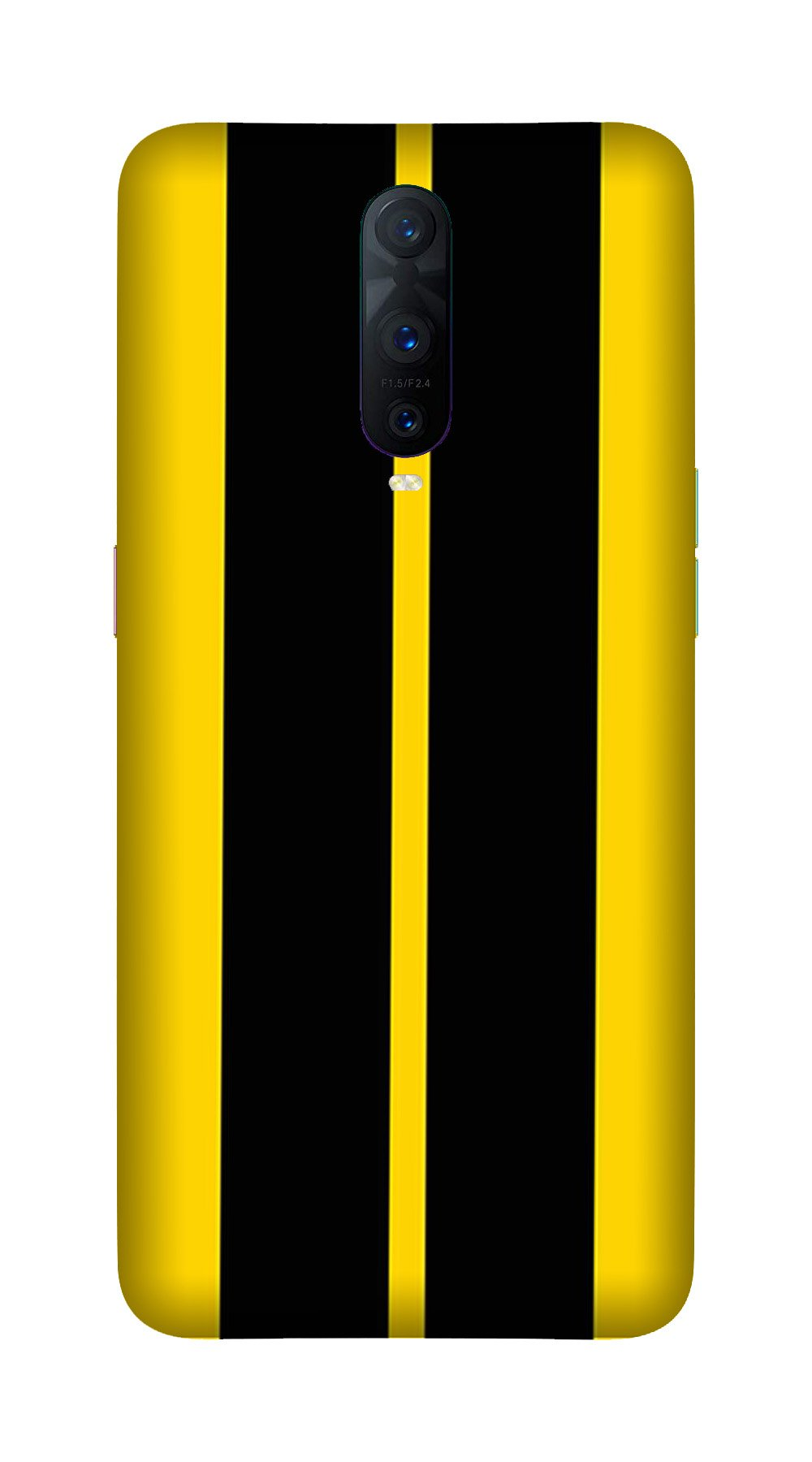 Black Yellow Pattern Mobile Back Case for OnePlus 7 Pro (Design - 377)