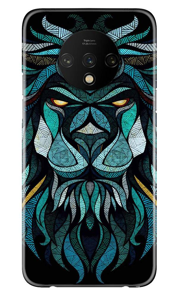 Lion Mobile Back Case for OnePlus 7T  (Design - 314)