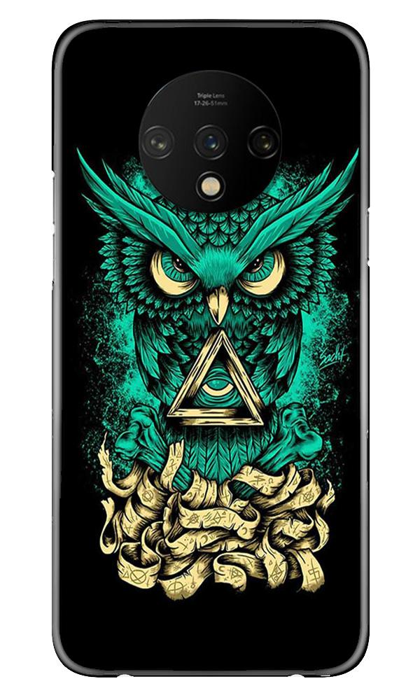 Owl Mobile Back Case for OnePlus 7T  (Design - 358)