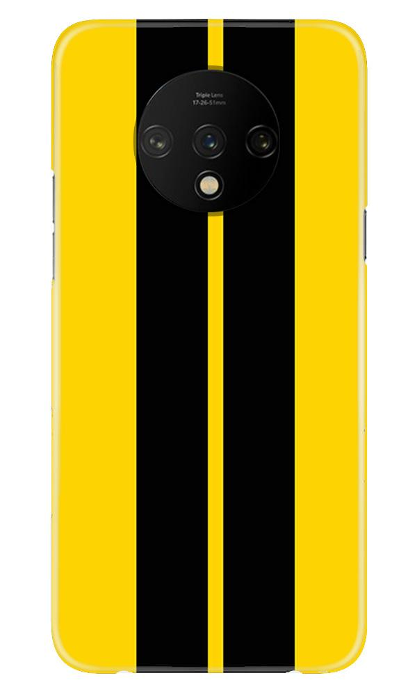 Black Yellow Pattern Mobile Back Case for OnePlus 7T  (Design - 377)