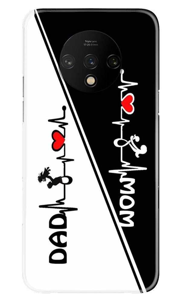 Love Mom Dad Mobile Back Case for OnePlus 7T  (Design - 385)
