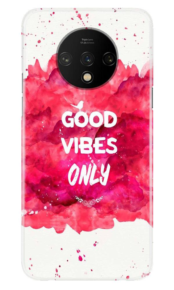 Good Vibes Only Mobile Back Case for OnePlus 7T  (Design - 393)