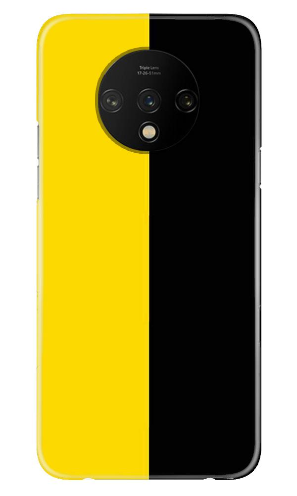 Black Yellow Pattern Mobile Back Case for OnePlus 7T  (Design - 397)