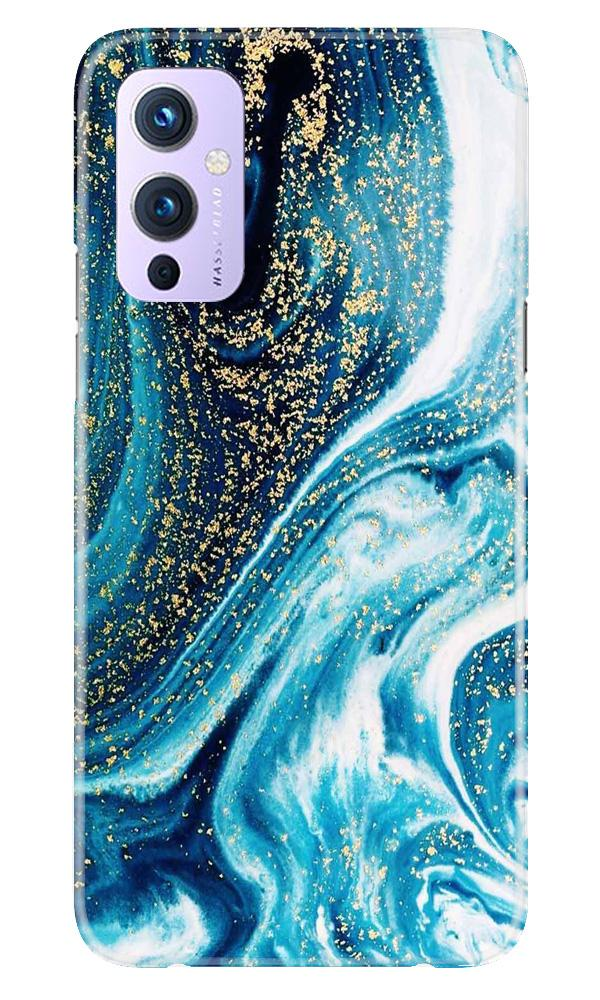 Marble Texture Mobile Back Case for OnePlus 9 (Design - 308)