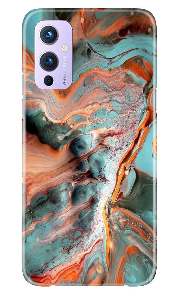 Marble Texture Mobile Back Case for OnePlus 9 (Design - 309)
