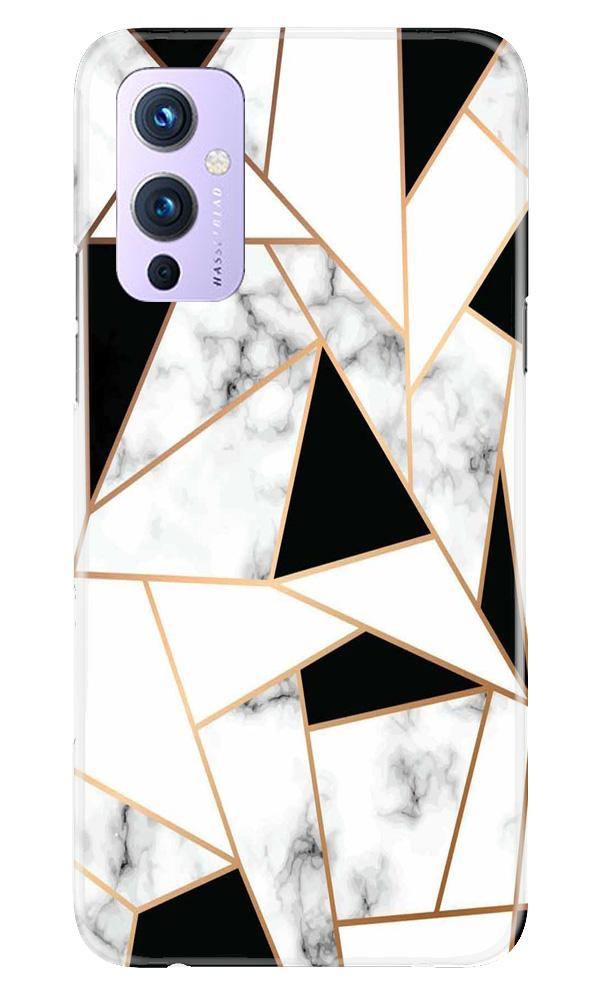 Marble Texture Mobile Back Case for OnePlus 9 (Design - 322)