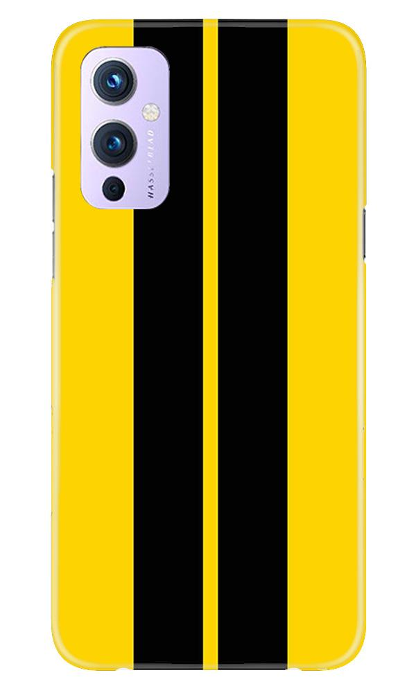 Black Yellow Pattern Mobile Back Case for OnePlus 9 (Design - 377)