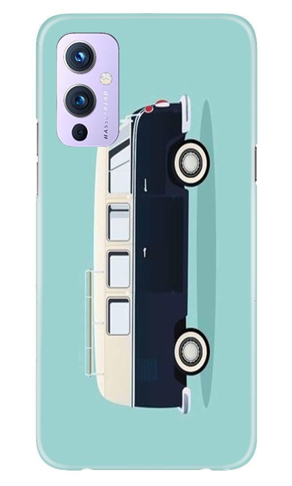 Travel Bus Mobile Back Case for OnePlus 9 (Design - 379)
