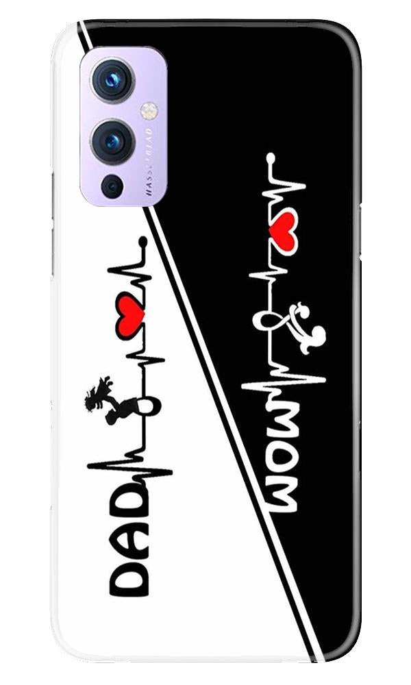 Love Mom Dad Mobile Back Case for OnePlus 9 (Design - 385)