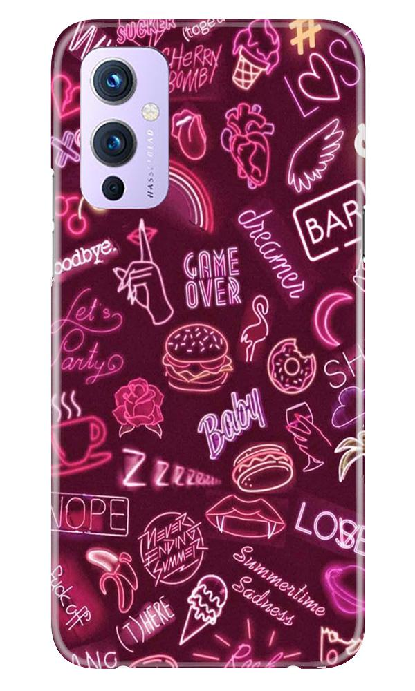 Party Theme Mobile Back Case for OnePlus 9 (Design - 392)