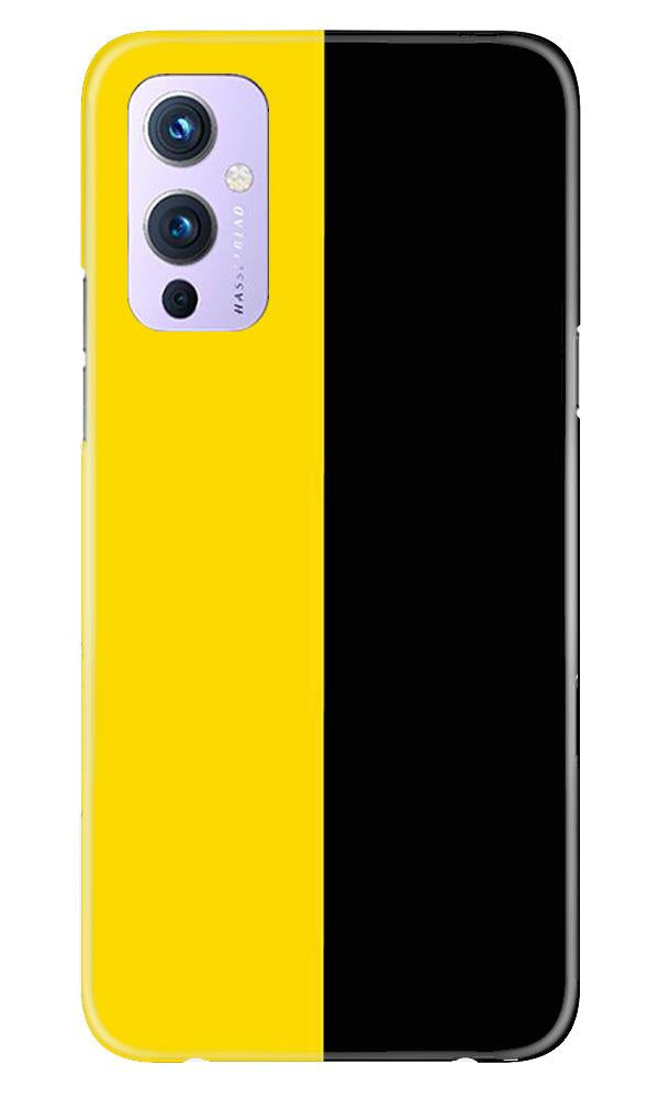 Black Yellow Pattern Mobile Back Case for OnePlus 9 (Design - 397)