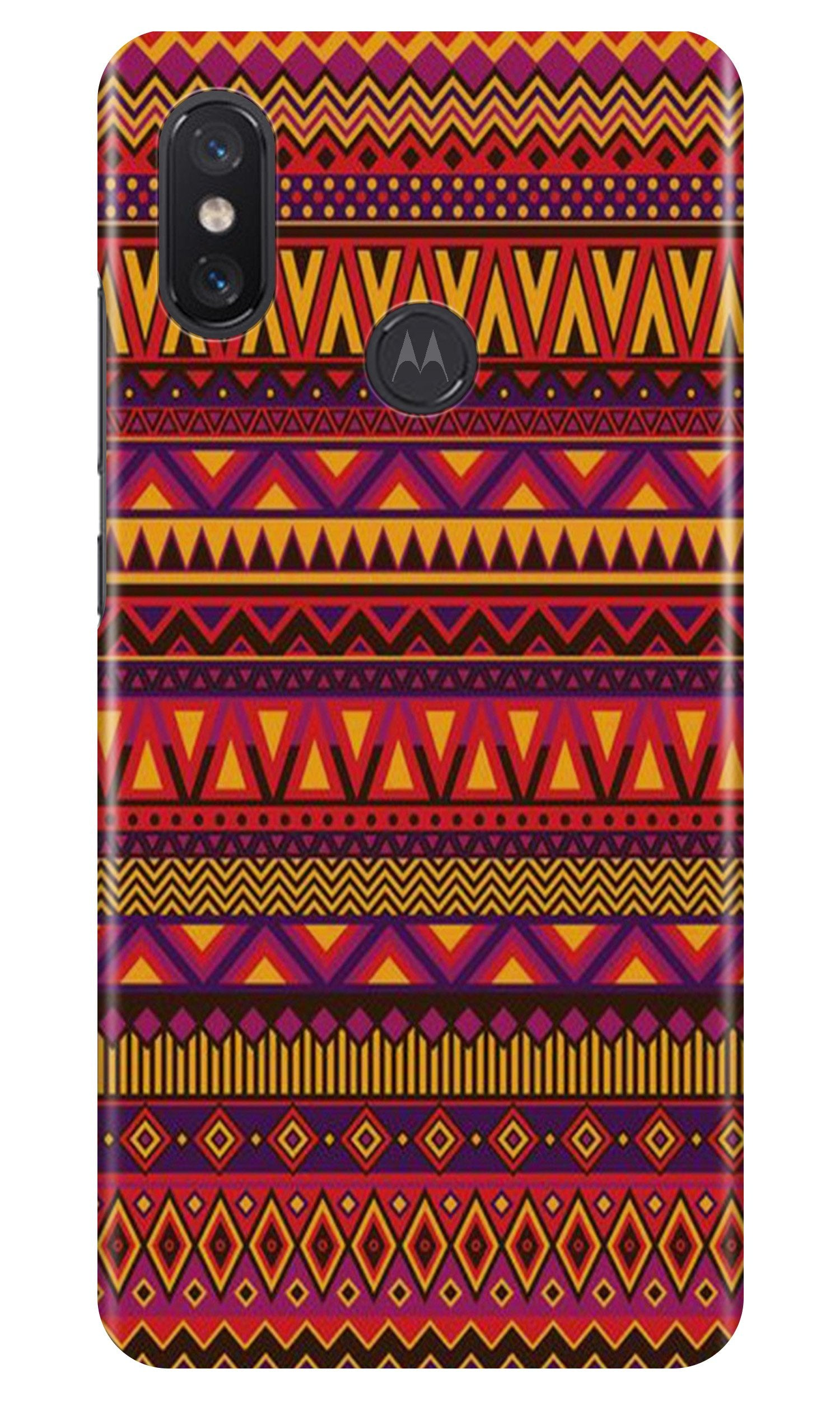 Zigzag line pattern2 Case for Moto One Power
