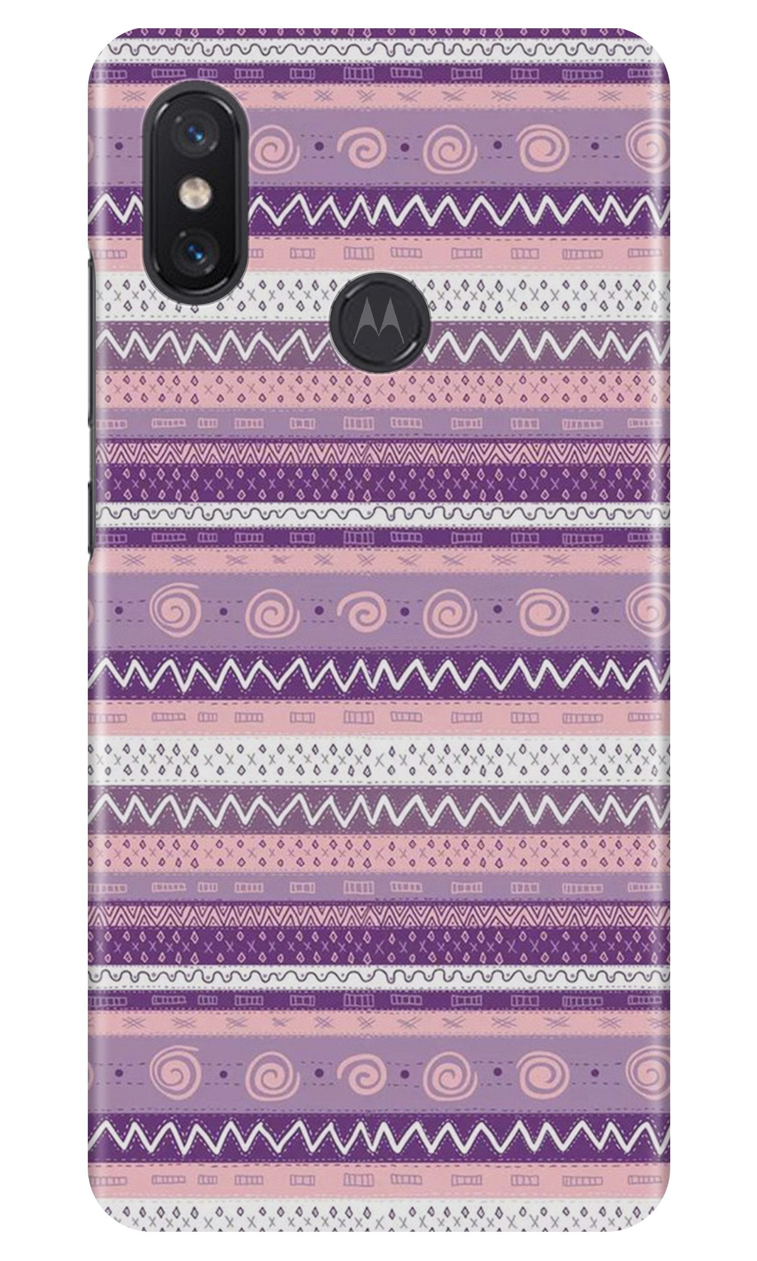 Zigzag line pattern3 Case for Moto One Power