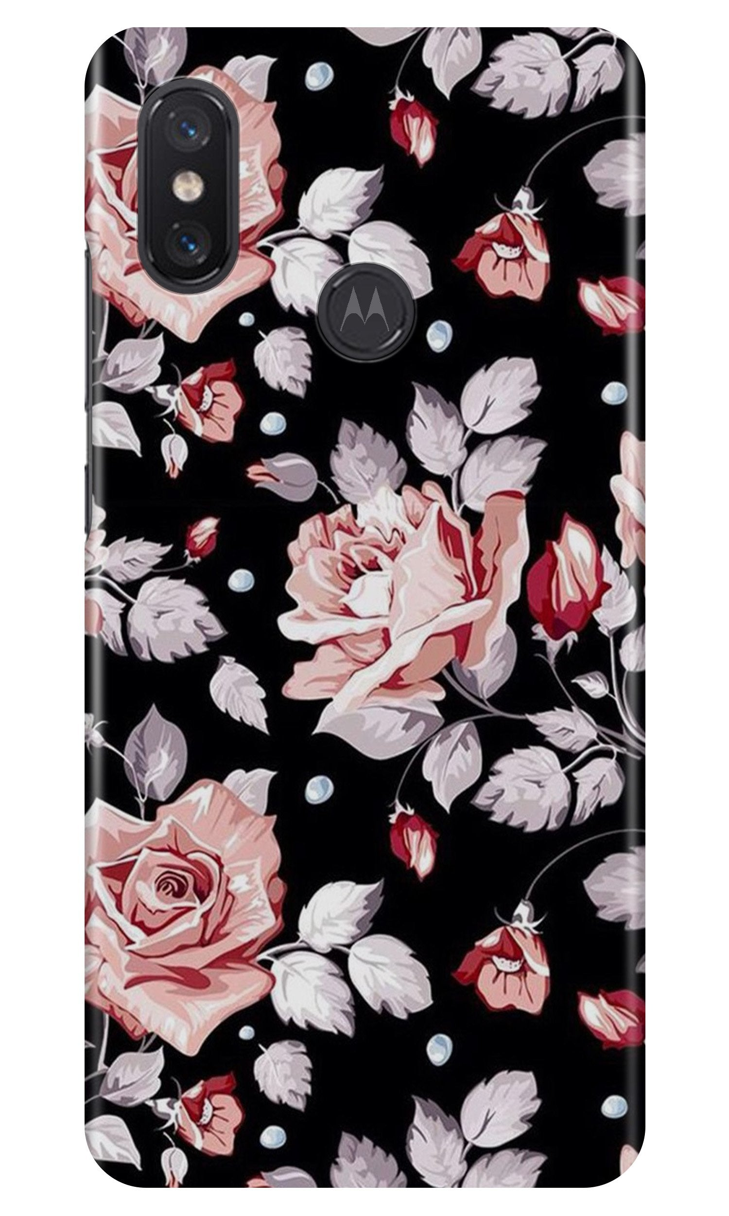 Pink rose Case for Moto One Power