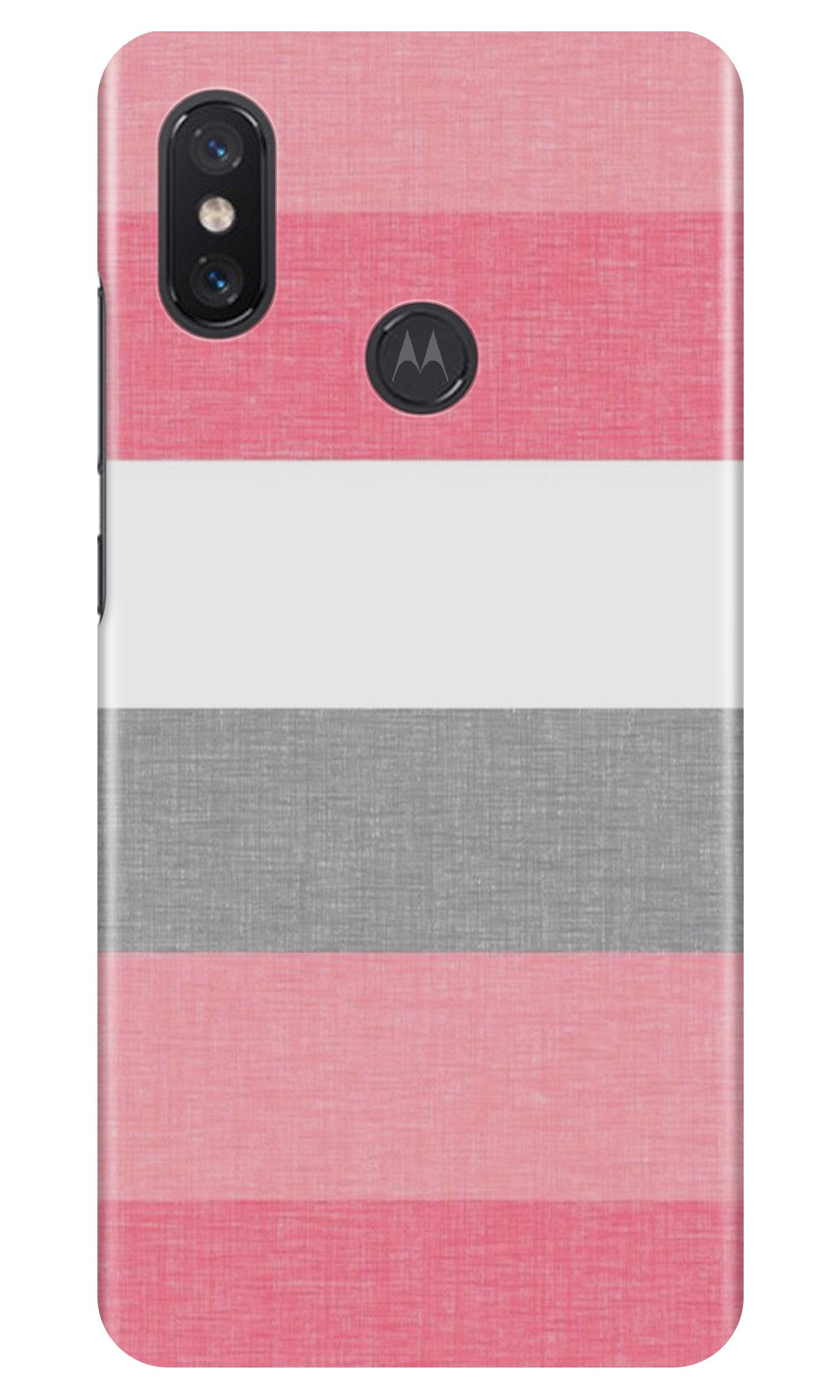 Pink white pattern Case for Moto One Power