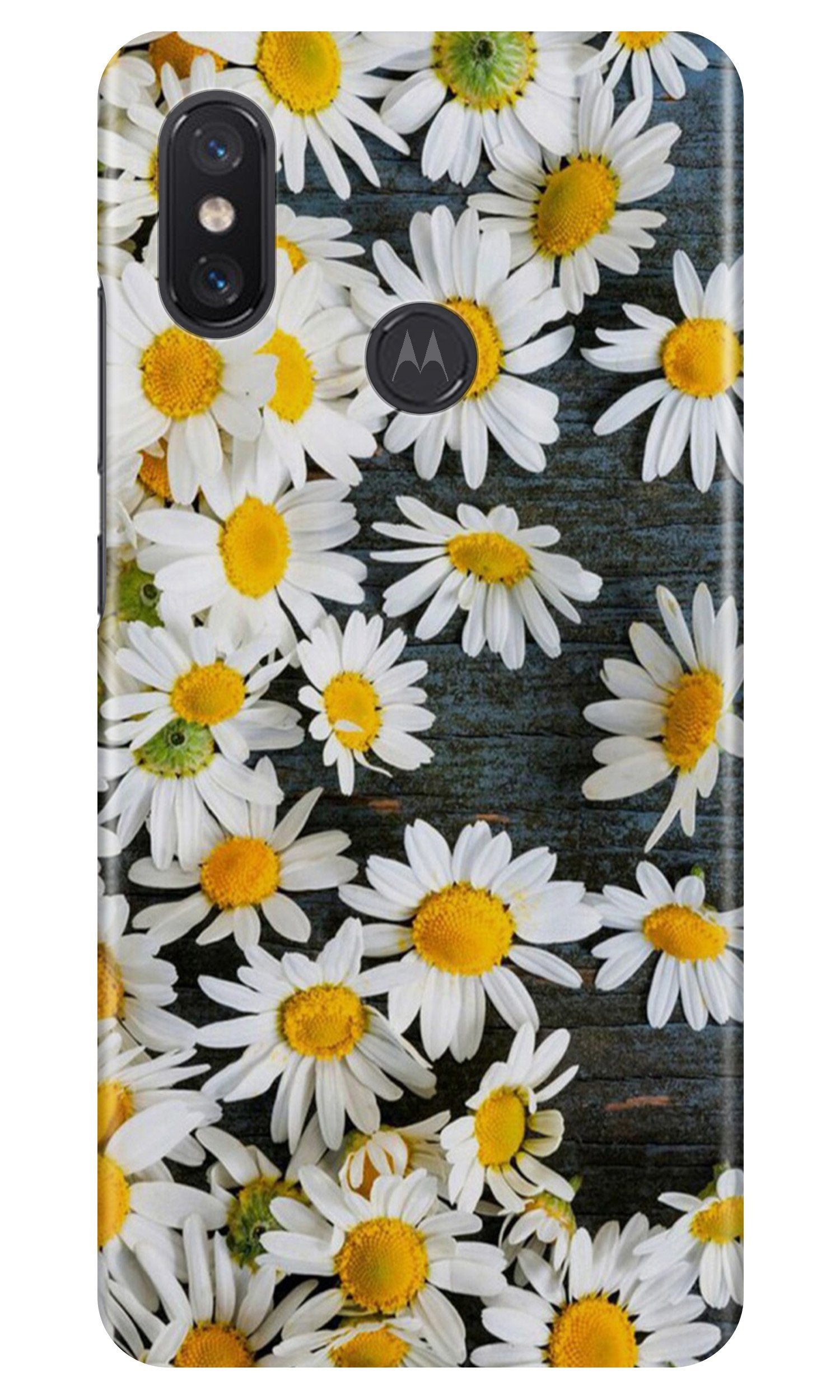 White flowers Case for Moto One Power