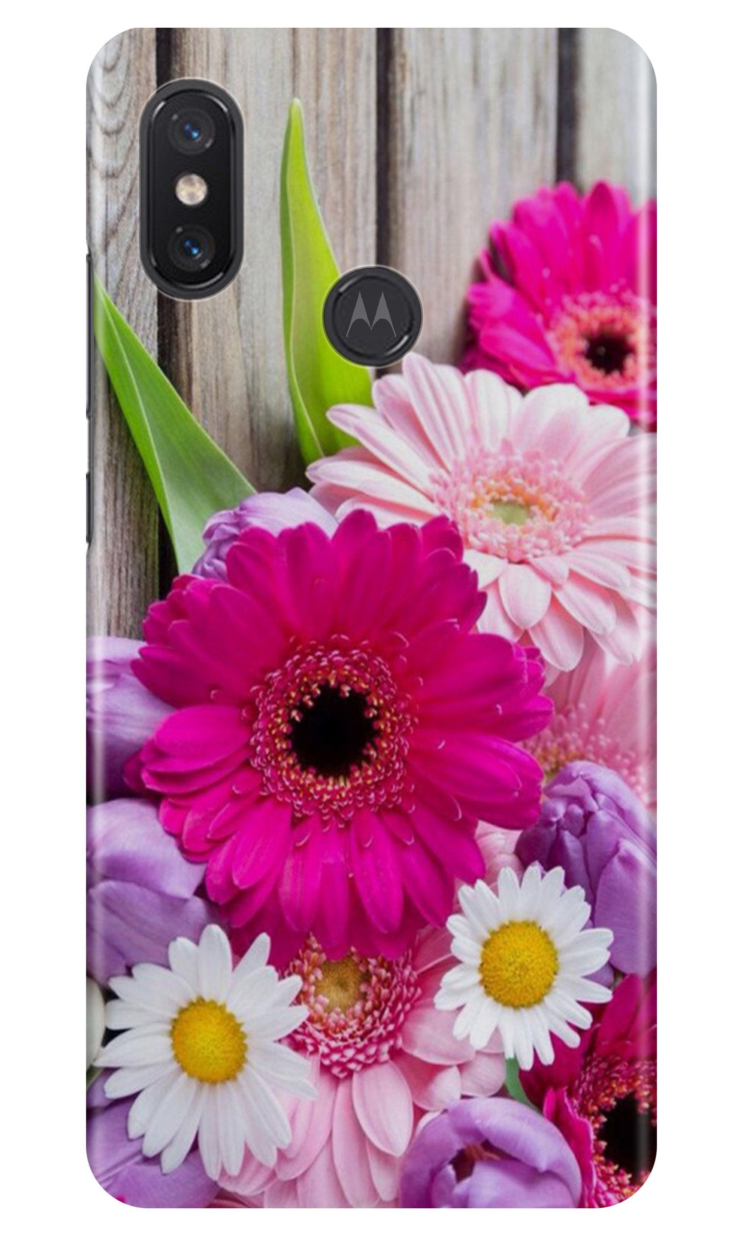 Coloful Daisy Case for Moto One Power