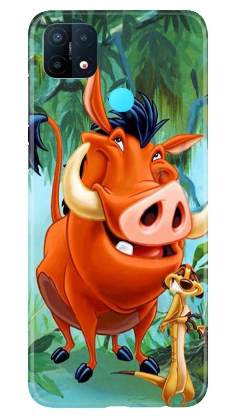 Timon and Pumbaa Mobile Back Case for Oppo A15 (Design - 305)