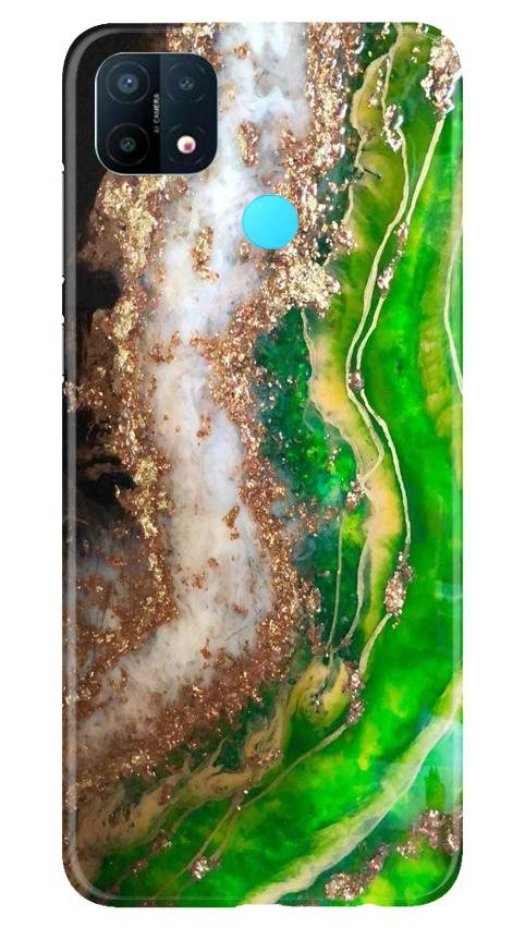 Marble Texture Mobile Back Case for Oppo A15 (Design - 307)
