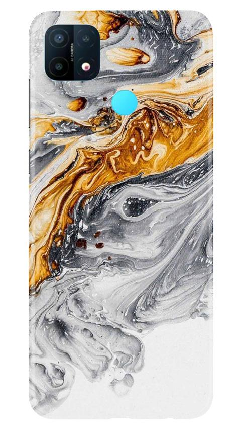 Marble Texture Mobile Back Case for Oppo A15 (Design - 310)