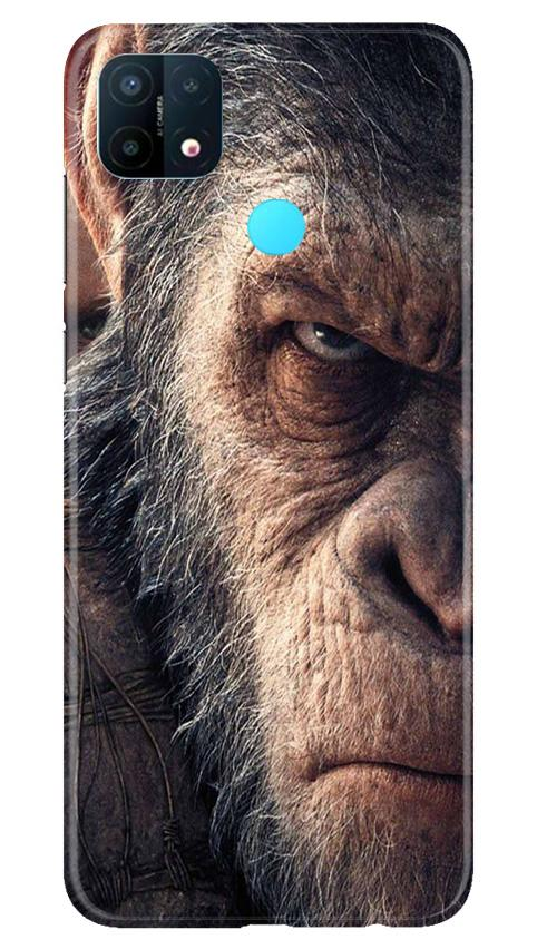 Angry Ape Mobile Back Case for Oppo A15 (Design - 316)