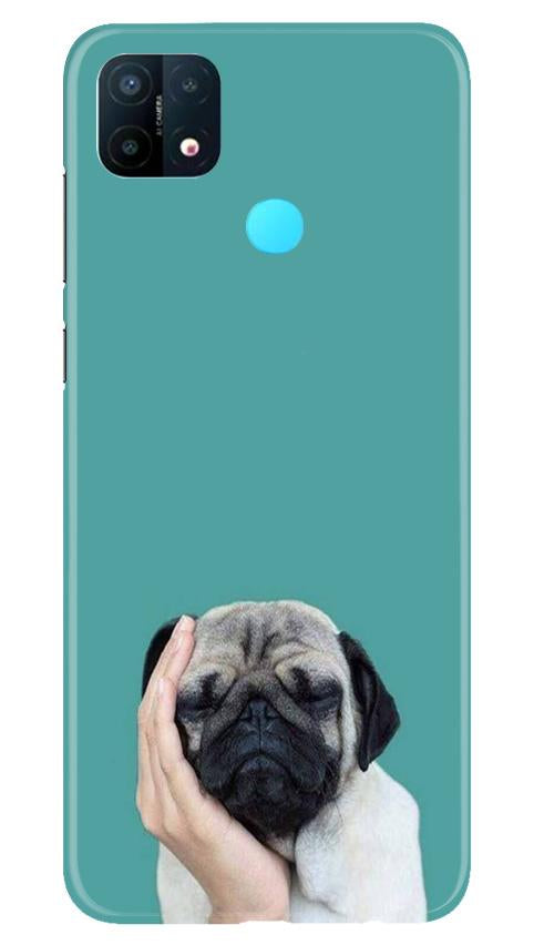 Puppy Mobile Back Case for Oppo A15 (Design - 333)