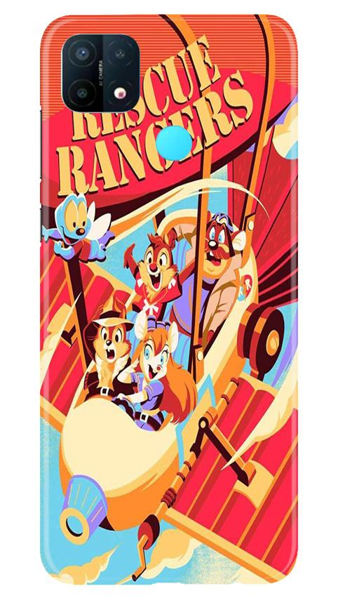 Rescue Rangers Mobile Back Case for Oppo A15 (Design - 341)