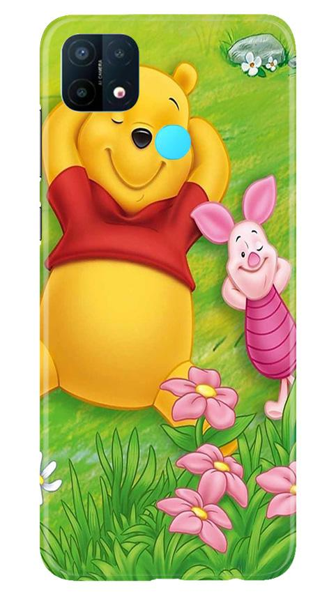 Winnie The Pooh Mobile Back Case for Oppo A15 (Design - 348)