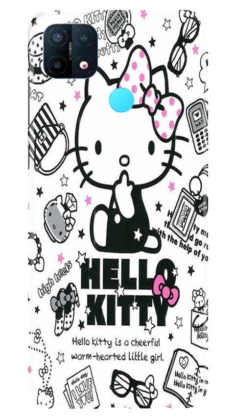 Hello Kitty Mobile Back Case for Oppo A15 (Design - 361)