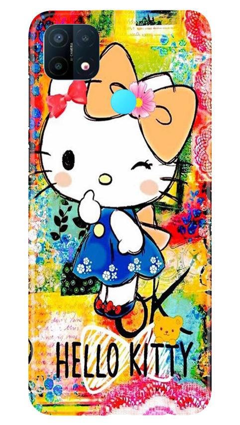 Hello Kitty Mobile Back Case for Oppo A15 (Design - 362)