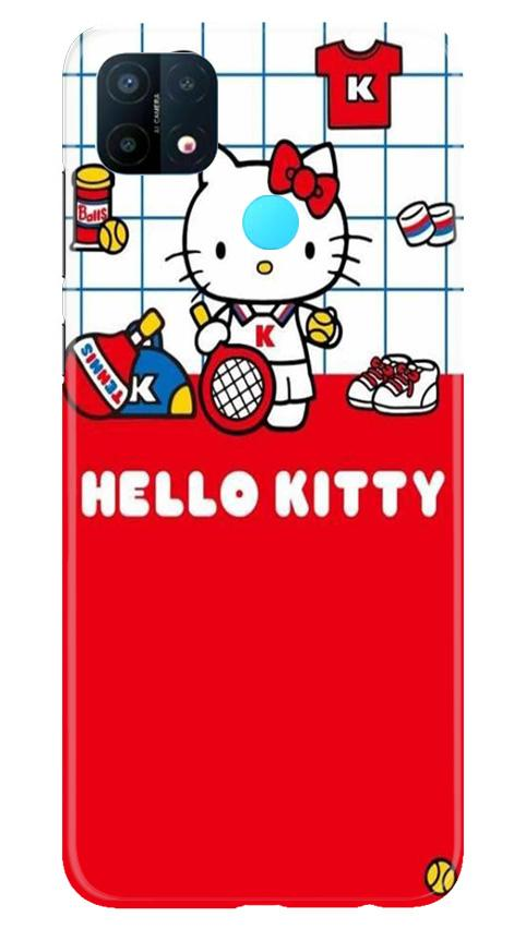 Hello Kitty Mobile Back Case for Oppo A15 (Design - 363)