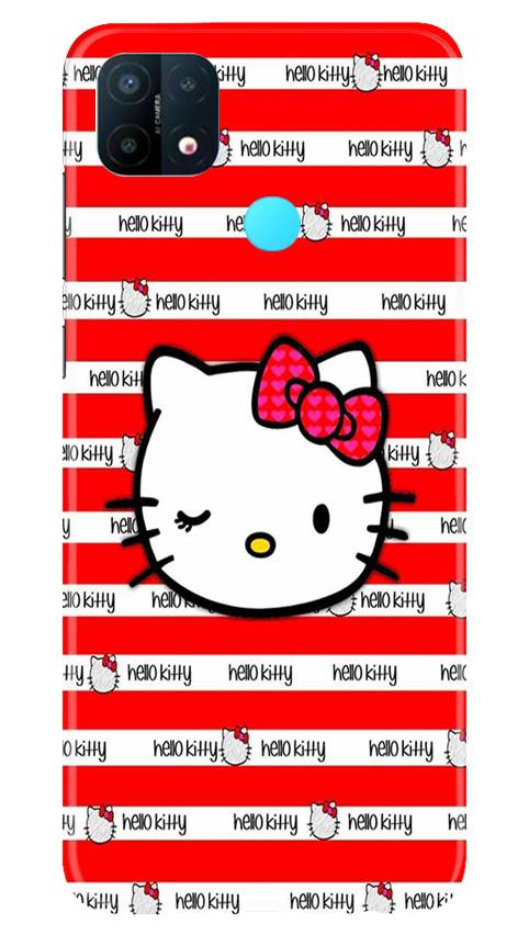 Hello Kitty Mobile Back Case for Oppo A15 (Design - 364)