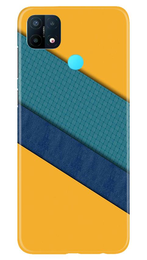 Diagonal Pattern Mobile Back Case for Oppo A15 (Design - 370)