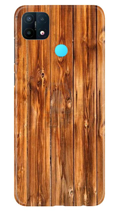 Wooden Texture Mobile Back Case for Oppo A15 (Design - 376)