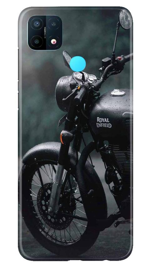 Royal Enfield Mobile Back Case for Oppo A15 (Design - 380)