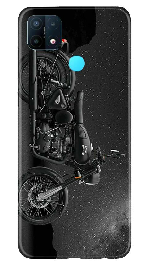 Royal Enfield Mobile Back Case for Oppo A15 (Design - 381)