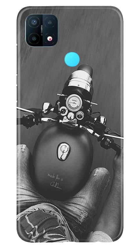 Royal Enfield Mobile Back Case for Oppo A15 (Design - 382)