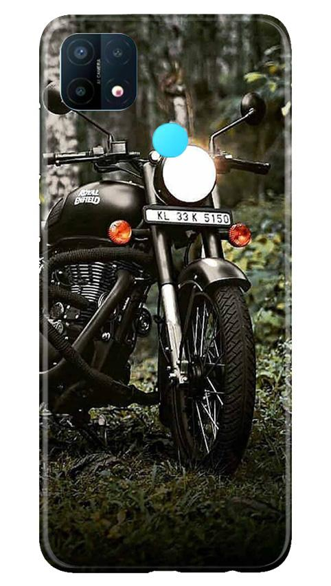 Royal Enfield Mobile Back Case for Oppo A15 (Design - 384)