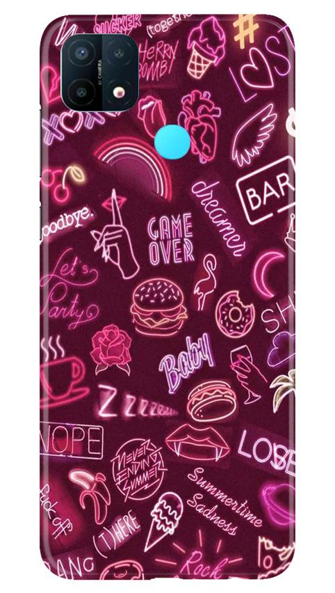 Party Theme Mobile Back Case for Oppo A15 (Design - 392)