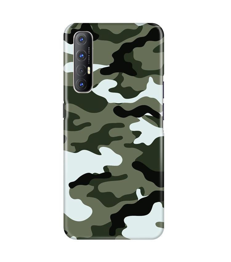 Army Camouflage Case for Oppo Reno3 Pro  (Design - 108)
