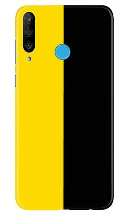 Black Yellow Pattern Mobile Back Case for Huawei P30 Lite (Design - 397)