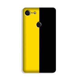 Black Yellow Pattern Mobile Back Case for Google Pixel 3 (Design - 397)