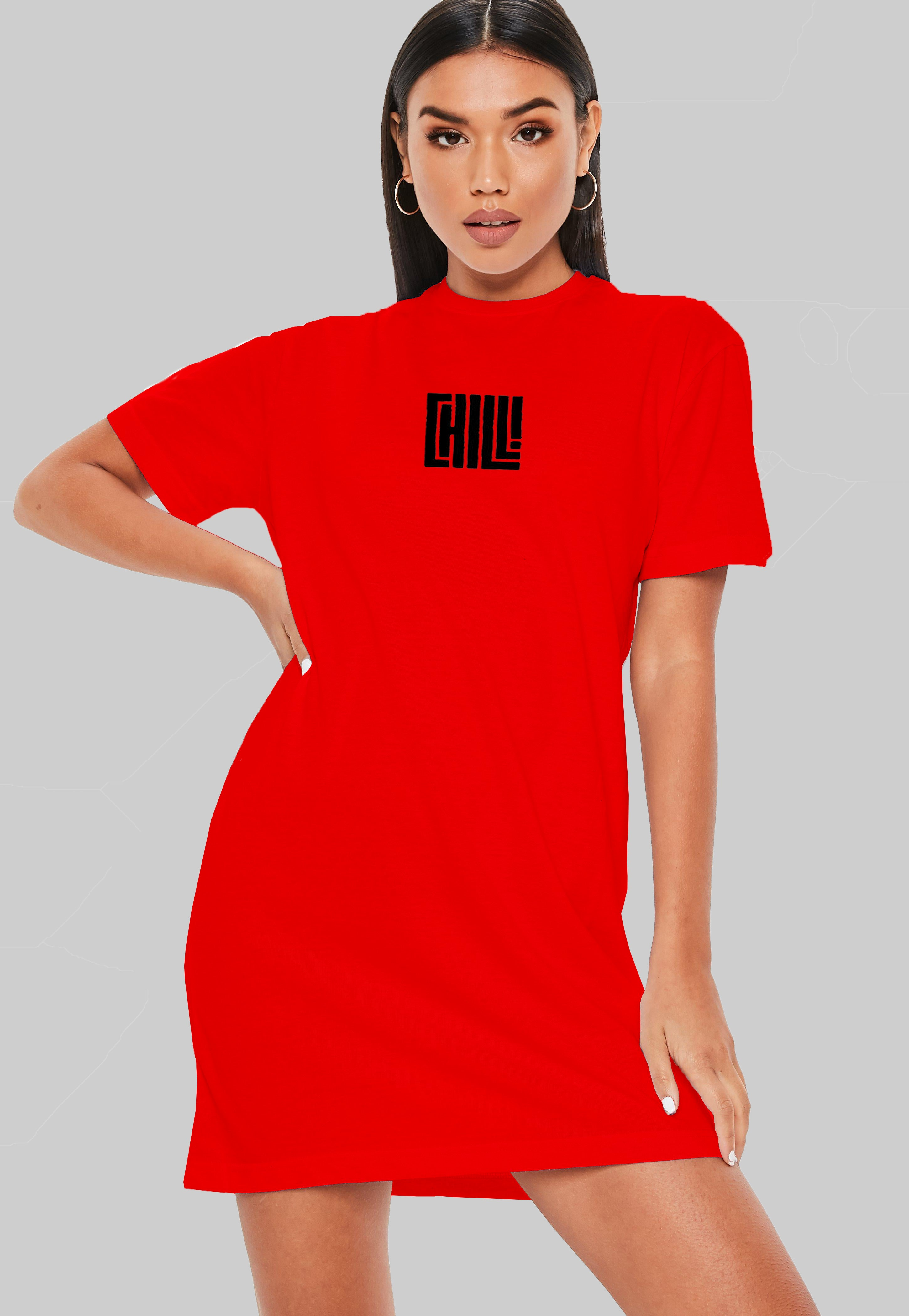 Chill AF T-Shirt Dress