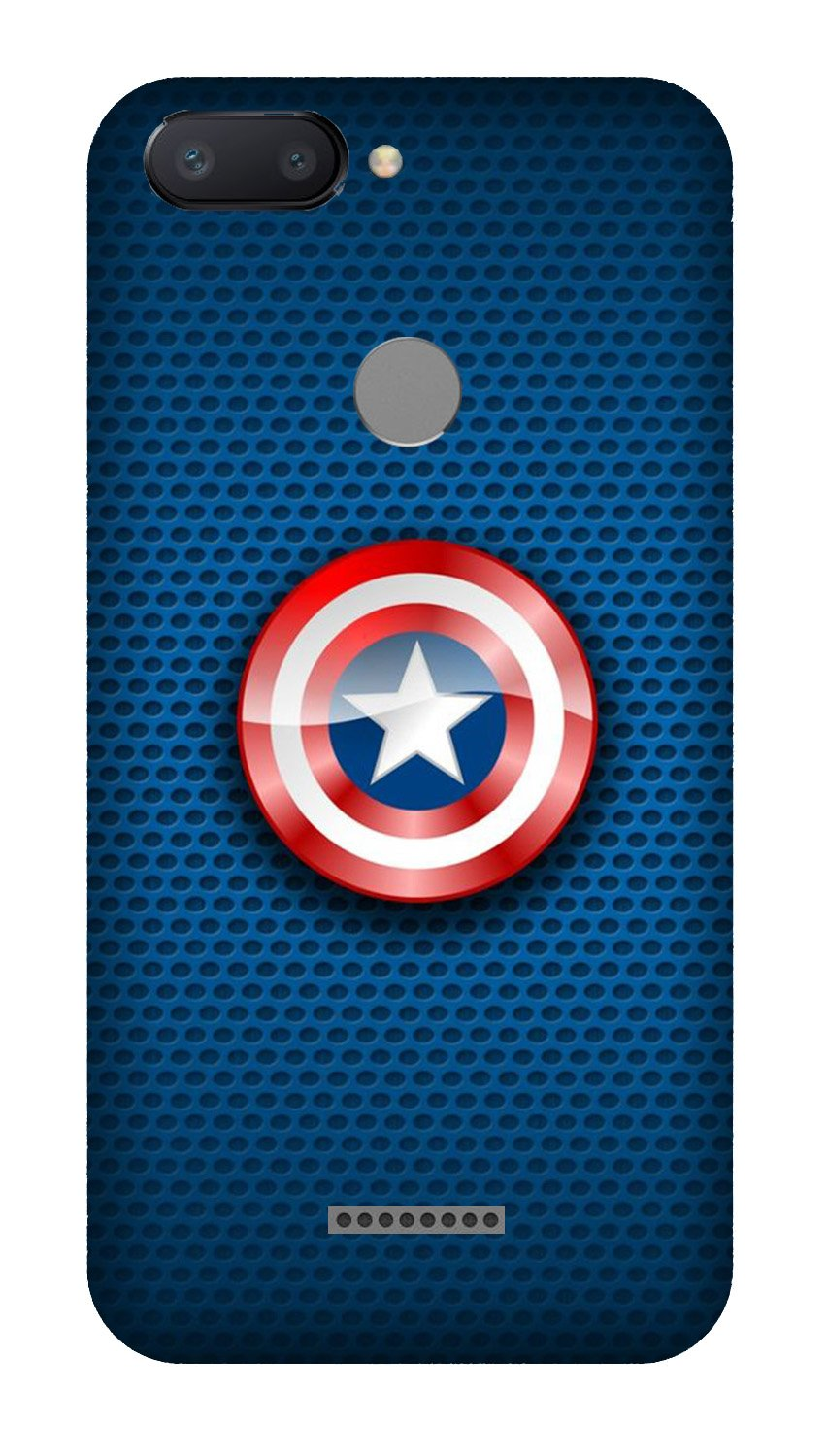 Captain America Shield Case for Xiaomi Redmi 6 (Design No. 253)
