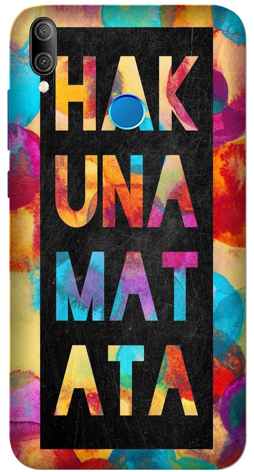 Hakuna Matata Mobile Back Case for Xiaomi Redmi Y3  (Design - 323)