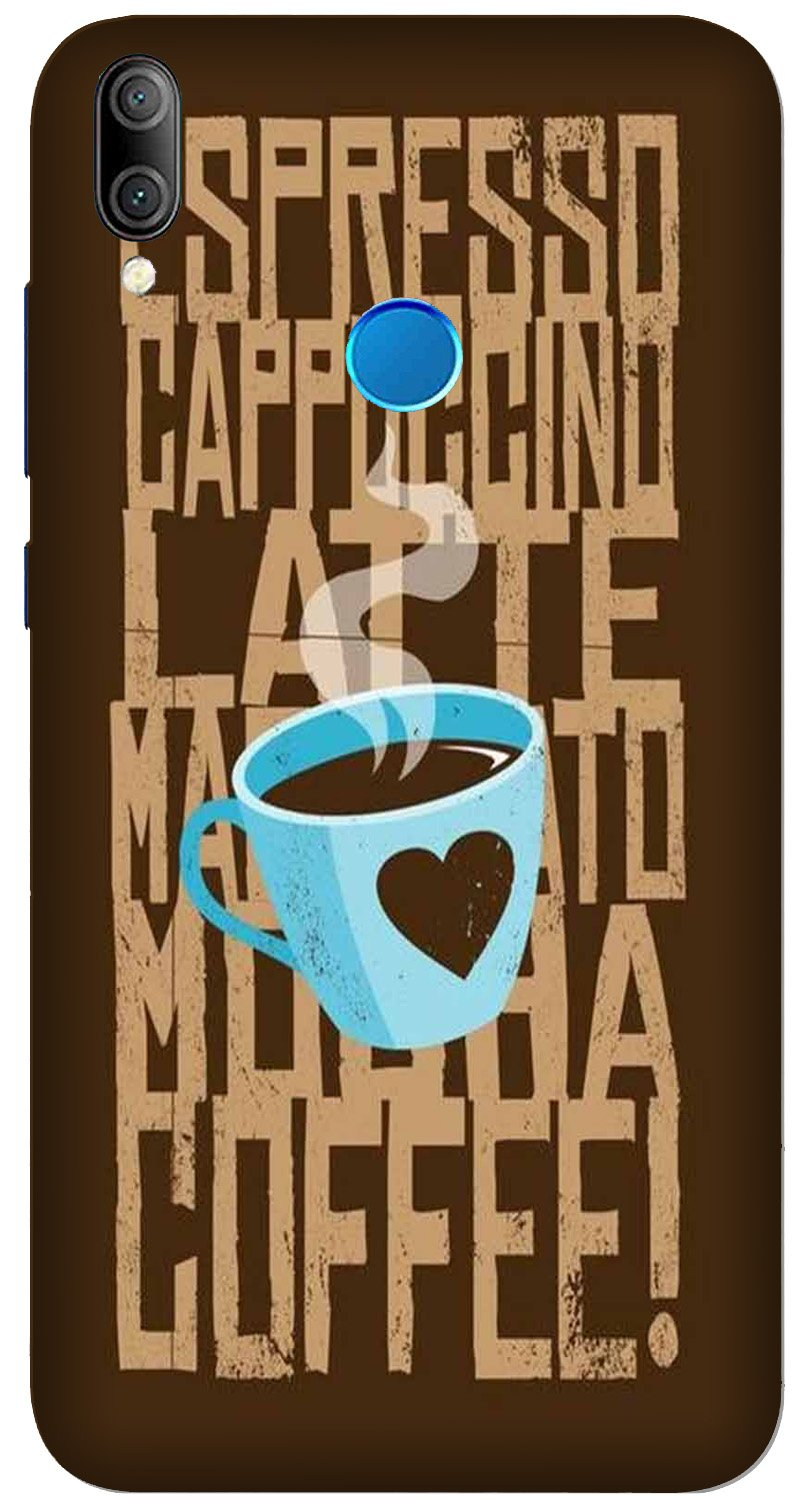 Love Coffee Mobile Back Case for Xiaomi Redmi Y3  (Design - 351)