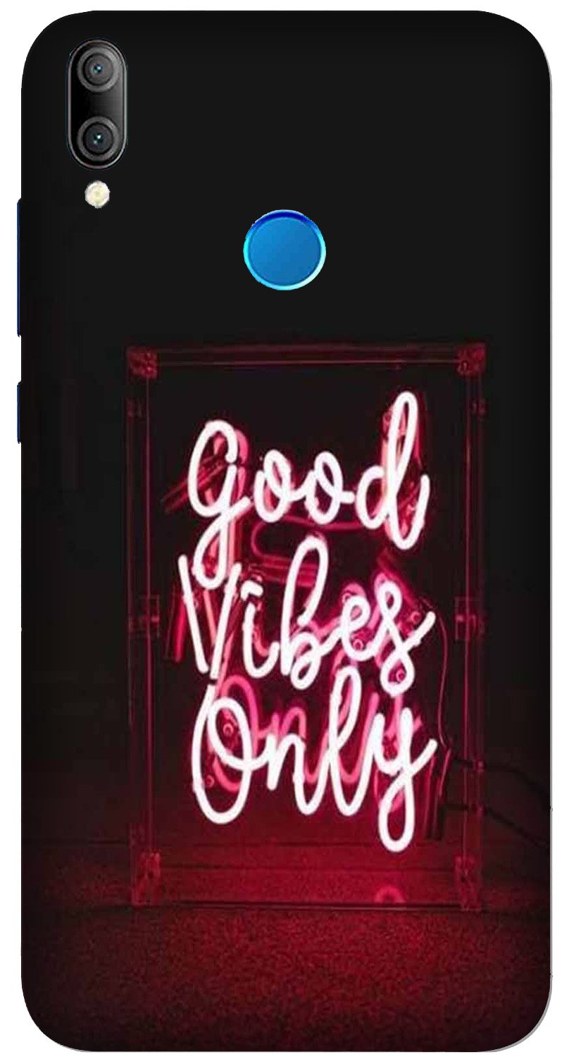 Good Vibes Only Mobile Back Case for Xiaomi Redmi Y3  (Design - 354)