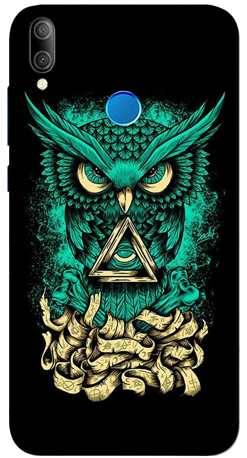 Owl Mobile Back Case for Xiaomi Redmi Y3  (Design - 358)