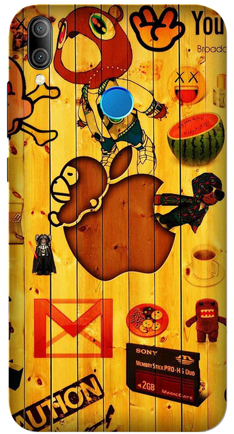 Wooden Texture Mobile Back Case for Xiaomi Redmi Y3  (Design - 367)